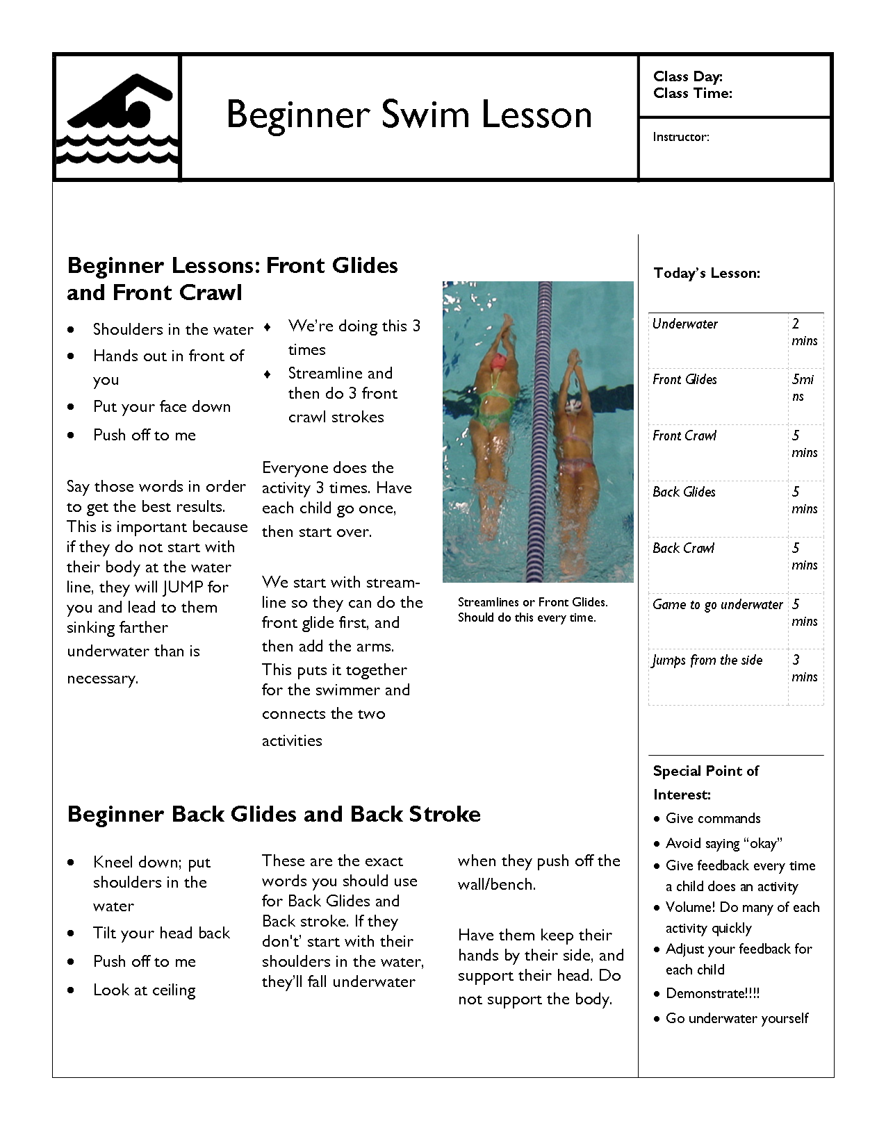 sports lesson plan template - free swimming lesson plans swimming lessons ideas